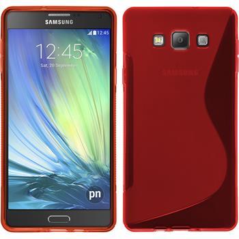 Silikonhülle für Samsung Galaxy A7 (A700) S-Style rot