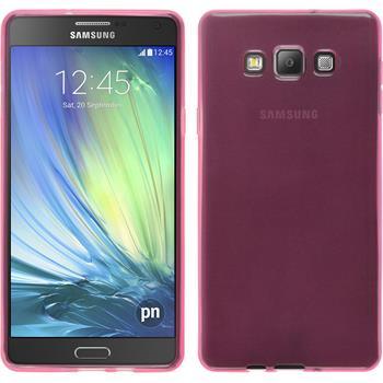 Silikonhülle für Samsung Galaxy A7 (A700) transparent rosa
