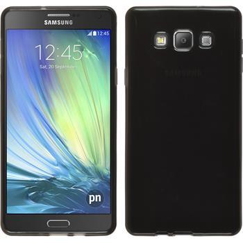 Silikon Hülle Galaxy A7 (A700) transparent schwarz