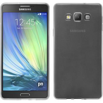 Silikon Hülle Galaxy A7 (A700) transparent weiß