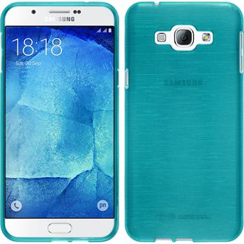 Silikon Hülle Galaxy A8 brushed blau