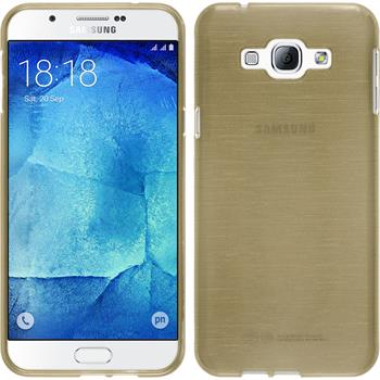 Silikon Hülle Galaxy A8 brushed gold