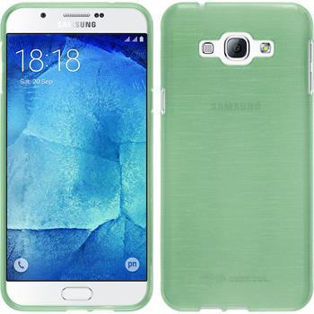 Silikon Hülle Galaxy A8 brushed grün