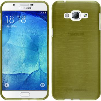 Silikon Hülle Galaxy A8 (2015) brushed pastellgrün + 2 Schutzfolien