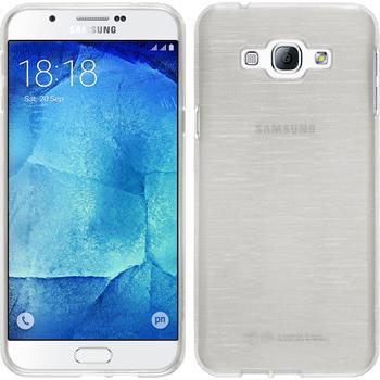 Silikon Hülle Galaxy A8 brushed weiß