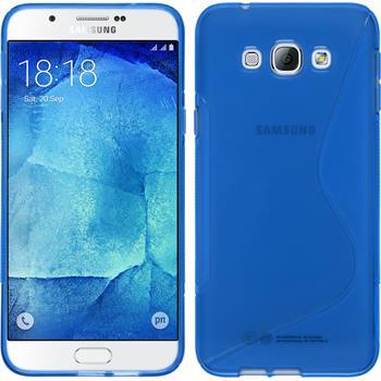 Silikon Hülle Galaxy A8 S-Style blau