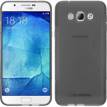 Silikonhülle für Samsung Galaxy A8 S-Style grau