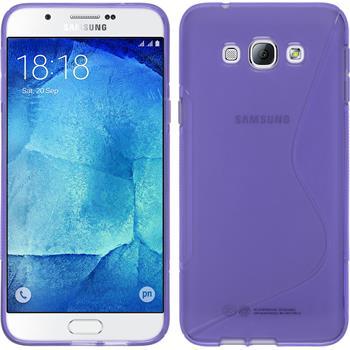 Silikon Hülle Galaxy A8 S-Style lila