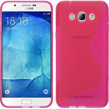 Silikonhülle für Samsung Galaxy A8 S-Style pink
