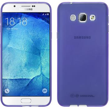 Silikon Hülle Galaxy A8 transparent lila