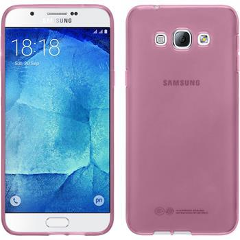 Silikon Hülle Galaxy A8 transparent rosa