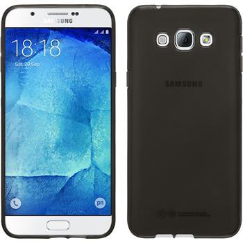 Silikon Hülle Galaxy A8 transparent schwarz