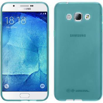 Silikon Hülle Galaxy A8 transparent türkis