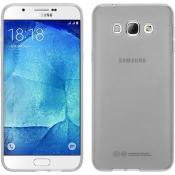 Silikon Hülle Galaxy A8 transparent weiß