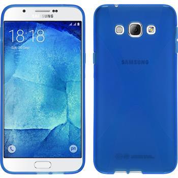 Silikon Hülle Galaxy A8 X-Style blau