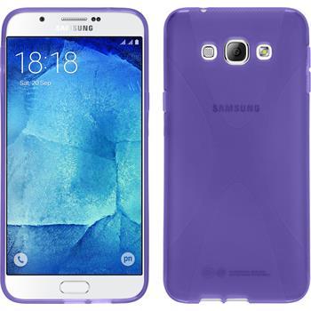 Silikon Hülle Galaxy A8 X-Style lila