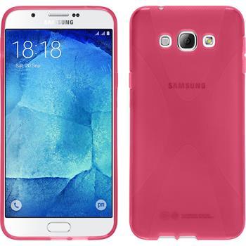 Silikon Hülle Galaxy A8 X-Style pink