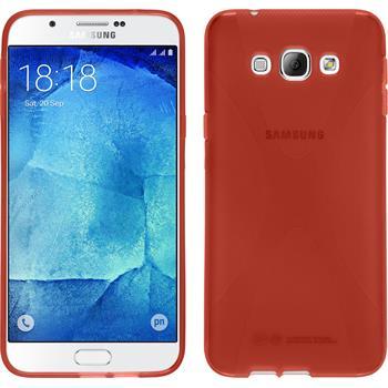 Silikonhülle für Samsung Galaxy A8 X-Style rot