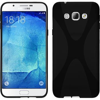 Silikon Hülle Galaxy A8 X-Style schwarz