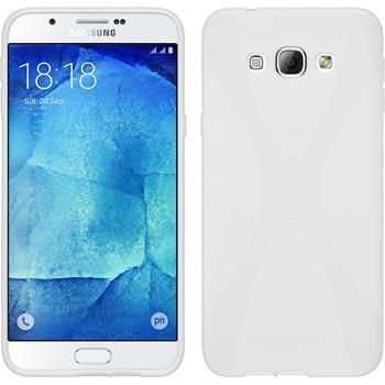 Silikon Hülle Galaxy A8 X-Style weiß