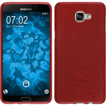 Silikon Hülle Galaxy A9 brushed rot