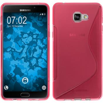 Silikon Hülle Galaxy A9 S-Style pink