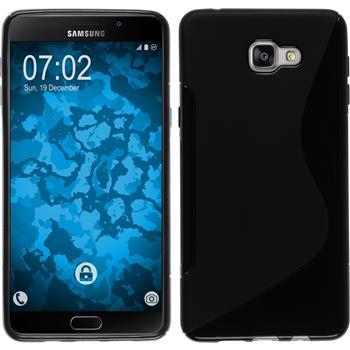 Silikon Hülle Galaxy A9 S-Style schwarz