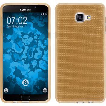 Silikon Hülle Galaxy A9 Iced gold + 2 Schutzfolien