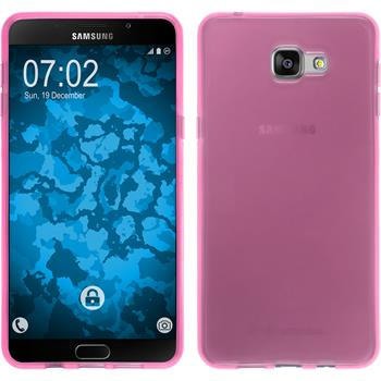 Silikon Hülle Galaxy A9 transparent rosa