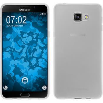 Silikon Hülle Galaxy A9 transparent weiß