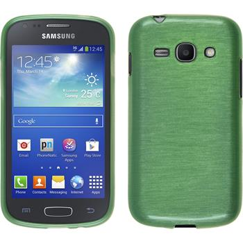 Silikon Hülle Galaxy Ace 3 brushed grün + 2 Schutzfolien