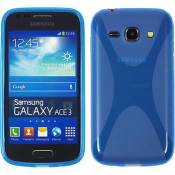 Silikon Hülle Galaxy Ace 3 X-Style blau