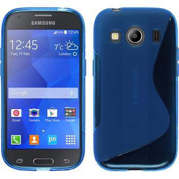 Silikonhülle für Samsung Galaxy Ace 4 S-Style blau