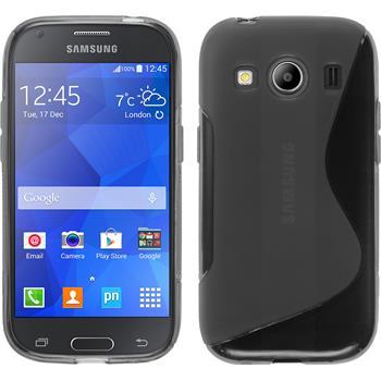 Silikon Hülle Galaxy Ace 4 S-Style grau