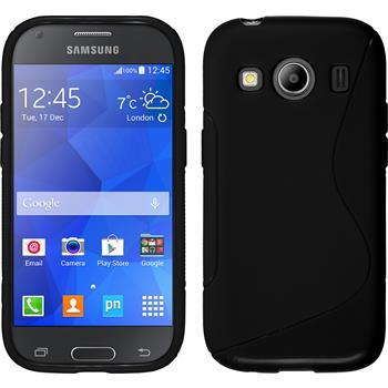 Silikon Hülle Galaxy Ace 4 S-Style schwarz