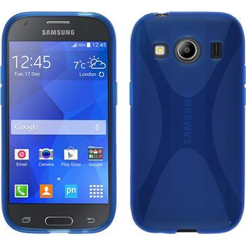 Silikon Hülle Galaxy Ace 4 X-Style blau