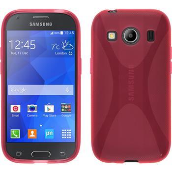 Silikon Hülle Galaxy Ace 4 X-Style pink
