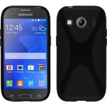 Silikon Hülle Galaxy Ace 4 X-Style schwarz
