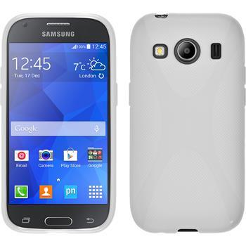 Silikon Hülle Galaxy Ace 4 X-Style weiß