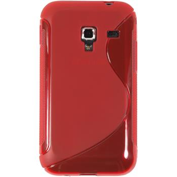 Silicone Case for Samsung Galaxy Ace Plus S-Style red