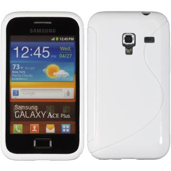 Silicone Case for Samsung Galaxy Ace Plus S-Style white