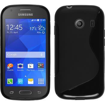 Silikon Hülle Galaxy Ace Style S-Style schwarz