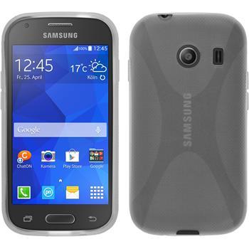 Silikon Hülle Galaxy Ace Style X-Style clear + 2 Schutzfolien