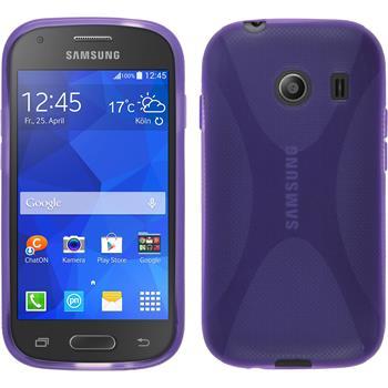 Silikon Hülle Galaxy Ace Style X-Style lila