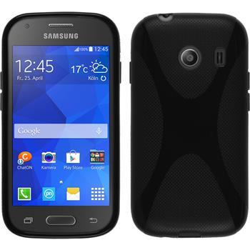 Silikon Hülle Galaxy Ace Style X-Style schwarz