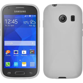 Silikon Hülle Galaxy Ace Style X-Style weiß