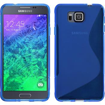 Silikonhülle für Samsung Galaxy Alpha S-Style blau