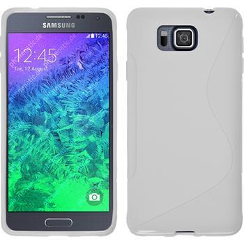 Silikon Hülle Galaxy Alpha S-Style weiß