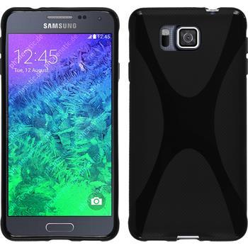 Silikonhülle für Samsung Galaxy Alpha X-Style schwarz