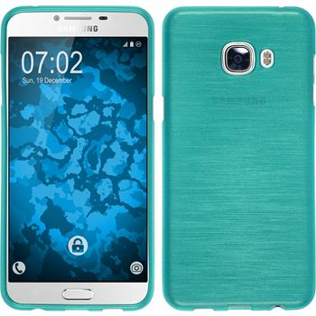 Silikon Hülle Galaxy C5 brushed blau